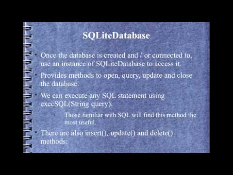 Android Development Course - Chapter 13 - Using SQLite