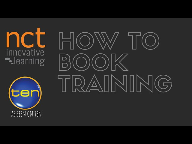 How to Book Training