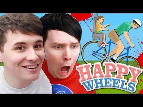 Dan and Phil play HAPPY WHEELS!! (видео)