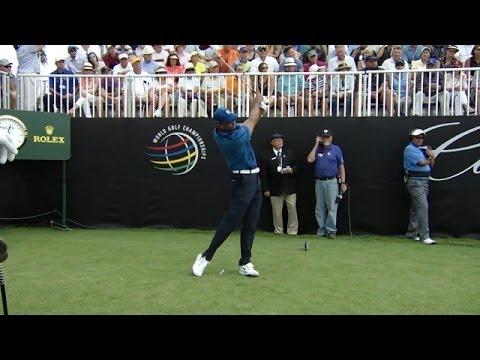 Woods - The drive of Tiger Woods, captured on the par-5 1st hole at the redesigned Trump National Doral in the 2014 World Golf Championships - Cadillac Championship,...