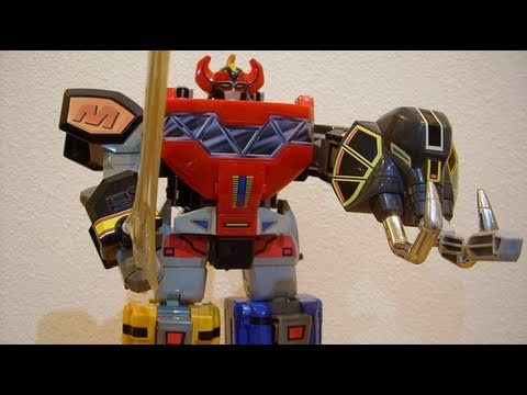 Power rangers deluxe megazord mmpr 1 toy review collectiondx