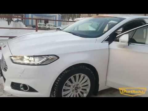"""Чехлы на Ford Mondeo 5 Titanium, серии """"Alcantara"""" - серая строчка"""