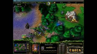 WarCraft 3 - The Frozen Throne Night Elf vs Night Elf Game One.