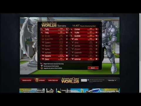 Gameplay De Adventure Quest World – (Pt-Br)