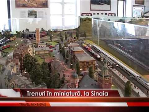 Trenuri în miniatură, la Sinaia – VIDEO
