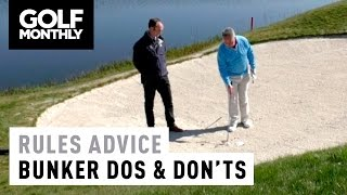 ► In this video Golf Monthly's Jeremy Ellwood and R&A Rules Assistant Director Kevin Barker explain some Rules scenarios you might face when in a bunker, suc...