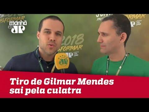 Tiro de Gilmar Mendes sai pela culatra | Felipe Moura Brasil (видео)