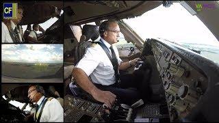 Video Im 747 Jumbo Cockpit nach Rostock: Kapitän Victoriano fliegt seinen Riesenvogel - Cockpitfilme.de MP3, 3GP, MP4, WEBM, AVI, FLV Juni 2019