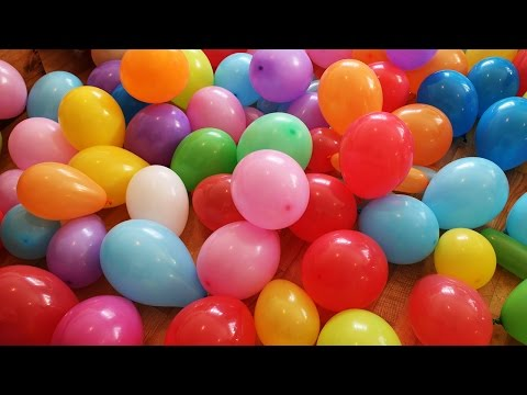 """""""The Balloon Show"""" for learning colors -- children's educational video"""