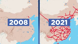 The amazing growth of China's high-speed rail network