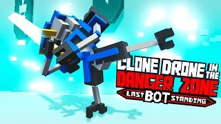 UNSTOPPABLE Kick Only CHALLENGE! - Clone Drone In The Danger Zone Gameplay
