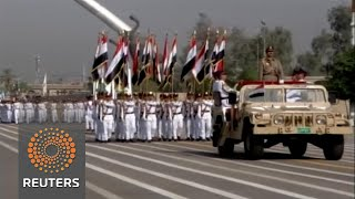 Iraq holds a military parade in Baghdad to celebrate victory over Islamic State in Mosul. David Doyle reports Subscribe: ...