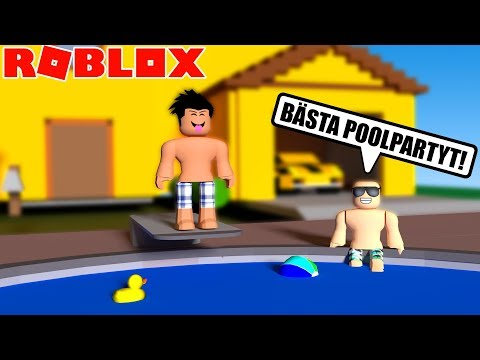 POOLPARTY HOS MIG I ROBLOX BLOXBURG