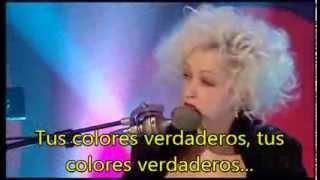 Cyndi Lauper - True colors Acoustic Subtitulada