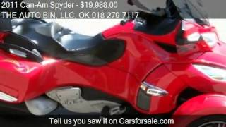 8. 2011 Can-Am Spyder RT-S SE5 Audio and Convenience  for sale