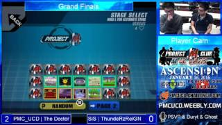 Grand Finals: ThundeRzReiGN (C. Falcon) vs. The Doctor (Mario) at Ascension 1/16/16