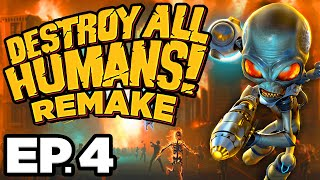 • PROBE, RAMPAGE, ABDUCTION, RACE CHALLENGES! - Destroy All Humans! Remake Ep.4 (Gameplay Lets Play)
