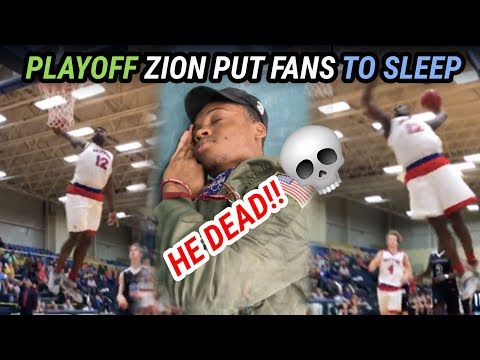 Playoff Zion Williamson GETS INTO IT With Opponent! Throws Down VICIOUS 360 Windmill
