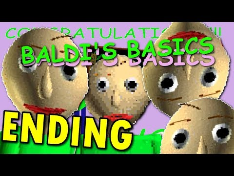 Baldi's Basics in Education and Learning -  ( FULL / ENDING / ALL EXITS + NOTES ) Manly LET'S PLAY (видео)
