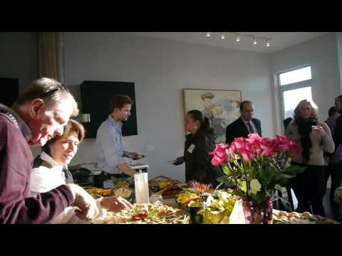 The scene at a West Loop broker's open house