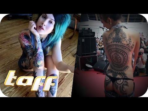 TÄTOWIERTE  FRAUEN = FLITTCHEN? Tattoo-Ikone Victoria Van Violence in Moskau #1 | taff | ProSieben