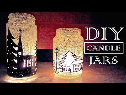 How to Make Candle Holders Recycling Old Jars | DIY Christmas Decorations