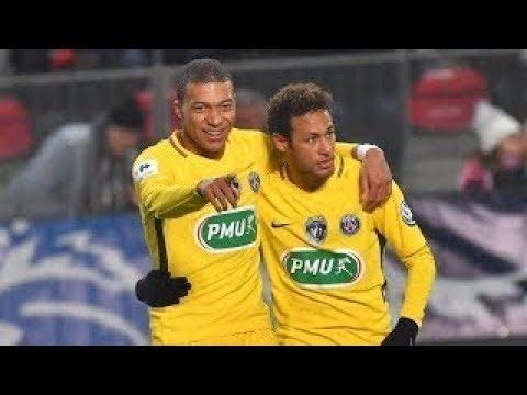 Neymar JR vs Stade Rennes (Home) - 7/01/2018 720p HD
