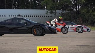 Video McLaren P1 vs. Porsche 918 Spyder vs. Ducati 1199 Superleggera - drag race MP3, 3GP, MP4, WEBM, AVI, FLV Juli 2018