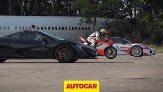 5. McLaren P1 vs. Porsche 918 Spyder vs. Ducati 1199 Superleggera - drag race