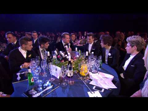 james corden - Click here to subscribe to the BRITs channel and be the first to access exclusive content: http://bit.ly/U6dQhL Host James Corden stops off at 1D's table for...