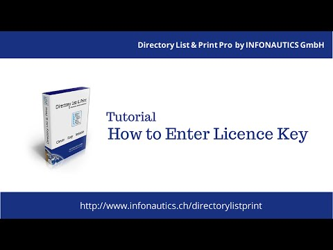 Directory List & Print Pro - How to Enter The Licence Key