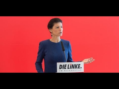 Sarah Wagenknecht, Linken-Fraktionschefin, will die Arb ...