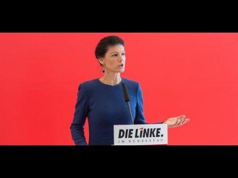 Sarah Wagenknecht, Linken-Fraktionschefin, will di ...