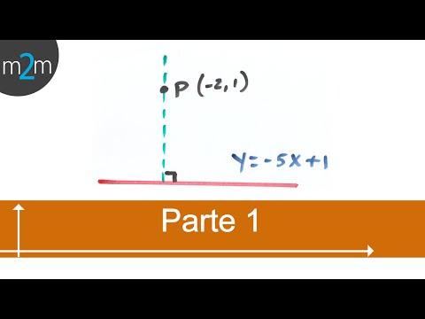 Gleichung der Geraden durch einen Punkt und senkrecht zu einer gegebenen Linie (TEIL 1/2)