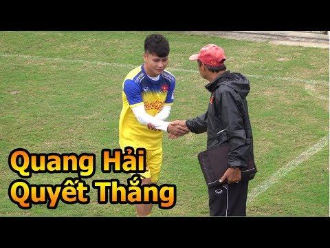 Thử Thách Bóng Đá đi xem Hà Đức Chinh Bùi Tiến Dũng Quang Hải U23 Việt Nam tập luyện đấu U23 Đài Bắc - Thời lượng: 10 phút.
