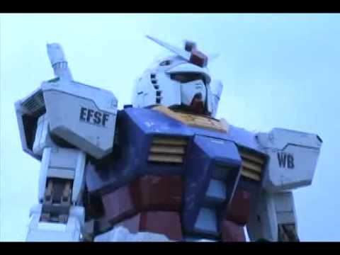 0 Bandai   59 Foot Life Size Gundam Figure Video