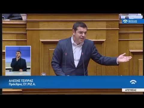 Α.Τσίπρας (Πρόεδρος ΣΥ.ΡΙΖ.Α)(Κυβερνητική πολιτική σχετικά με τα εργασιακά θέματα)(14/02/2020)