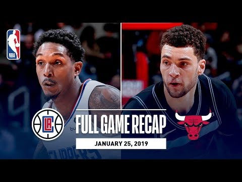 Video: Full Game Recap: Clippers vs Bulls | Lou Williams Records First Career Triple-Double