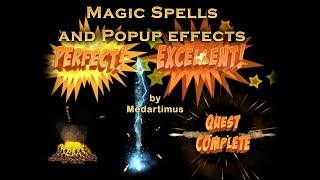 Text Popup effects and Magic Spells