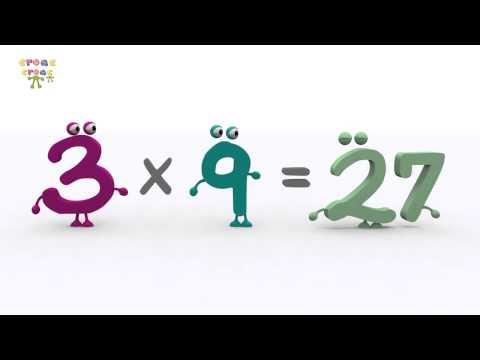 La tabla del 3 – NUEVO. Ejercicios de matemática para niños. croac croac
