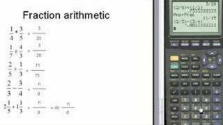 Fractions on the TI83