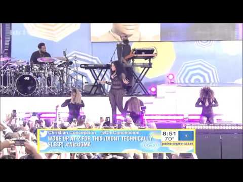 [HD] Nicki Minaj - The Night Is Still Young Live GMA
