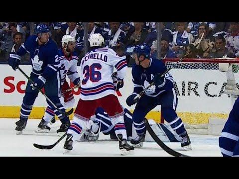 Video: Zuccarello gets stick below bar, Rangers battle back to tie game