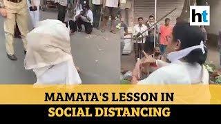 Watch: Amid COVID-19 crisis, Mamata Banerjee promotes social distancing