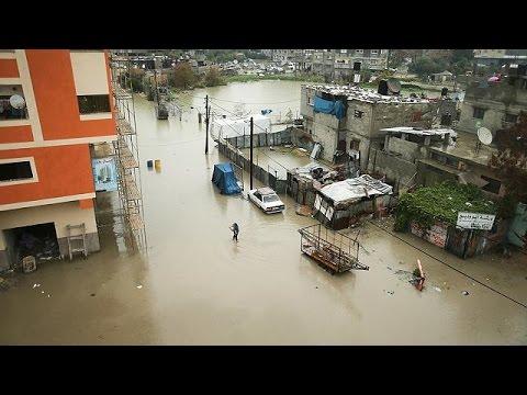 Λωρίδας της Γάζας: Πλημμύρισε ο καταυλισμός της Τζαμπαλίγια