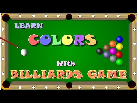 Learn colors with Billiards game for kids | Snooker game | Wowkids Tv