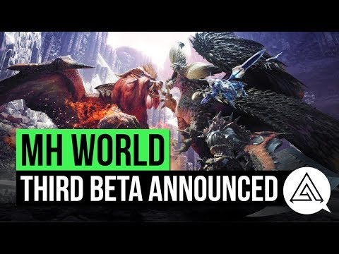 Monster Hunter World News   Third BETA Announced! Online Lobby, Story Quests & More!