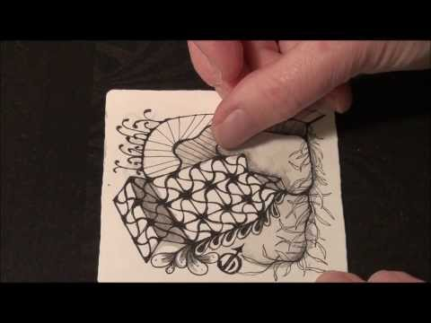 """Undine"": New original Zentangle® tangle pattern"