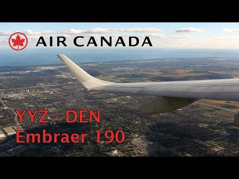 Air Canada Embraer 190 flight Toronto - Denver trip report