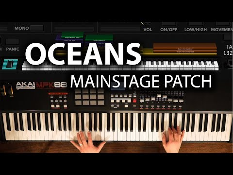 Oceans MainStage Patch - Hillsong United Keyboard Cover
